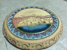 Round Southwestern Pueblo Pottery Wall Hanging Beautiful