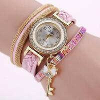 Fashion Woman Ladies Girls Watch Chic Knit Bracelet Crystal Quartz Wrist Watch