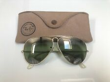 Vintage Ray Ban Aviator B&L Sunglasses Bausch&Lomb USA 58mm RB3 Mirrored 1940/50