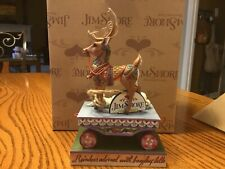 "Jim Shore Heartwood Creek ""Winter Wishes Speeding Your Way� Figurine 4014292"