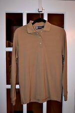 Blue Generation Ladies L/S Golf/Pullover Top Brown Cotton Blend New Nwt Stain Rl