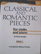 CLASSICAL & ROMANTIC PIECES for Violin & Piano Book 1 pub. OUP