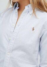 Lauren Ralph Lauren 100% Cotton Blue White Classic Fit Button Down Shirts Sz 2