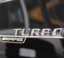 2x Mercedes Cromo AMG Turbo emblemas emblema letras posterior tronco lados Insignia