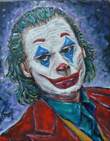 JOKER Arthur Fleck New oil painting 8x10 canvas original signed art by Crowell