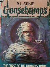 GOOSEBUMPS book R L STINE original cover series #5 THE CURSE OF THE MUMMY'S TOMB