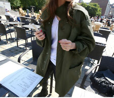 Naning9 Korean Oversized Trench Dust Coat Jacket Army Green Military Olive