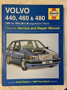 Volvo 440,460 & 480 Haynes Manual 1987-92