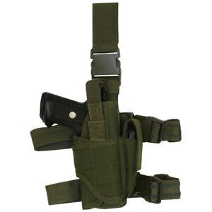 OD Tactical Pistol Commando Holster Olive Drab Right Handed Drop Leg Fox 58-680
