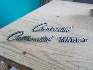1970 Lincoln Continental Mark V Script Letter Emblems!