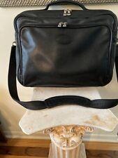 Longchamp Le Foulonne black pebbled leather carry on suitcase bag