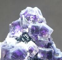 69g Rare Transparent Purple Cube Fluorite Mineral Crystal Specimen/China