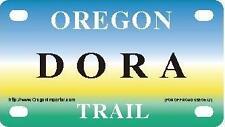 DORA Oregon Trail - Mini License Plate - Name Tag - Bicycle Plate!