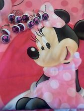 Disney Mini Mouse Shower Curtain And Hook Set