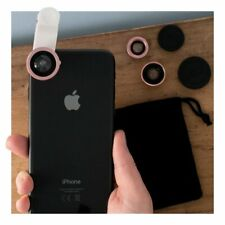 Clip On Lens Kit Macro Wide Angle Fish Eye For IPhone Samsung Smartphone Mobile