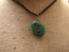 Necklace ~ Statement Piece~ Southwest Turquoise Stone Pendant Rope