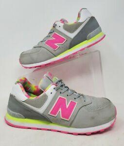 Mens New Balance 574 Gray Pink sz 6