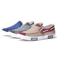 Summer Mens Driving Slip On Loafers Moccasin Canvas Shoes Flats Sneakers Fashion