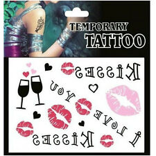 Removable Waterproof Temporary Tattoo Body Stickers ~Lip Blackjack~ 1pc:)