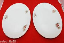Vintage Fukagawa Arita Set of 2 Handpainted Oval Dish Plate 904 Pine Cone