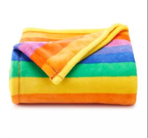 Rainbow The Big One Oversized Super Soft Throw Blanket 5' x6 ft - NEW