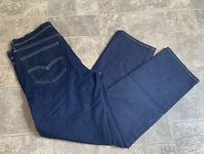 Mens Leavis 541 Dark Blue Jeans 33x32 EUC White Oak Cone Denim Irregular
