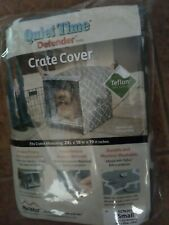"""Dog Crate Cover Quiet Time Defender Sz Small 24""""Lx18""""Wx19� H Teflon Protected New"""