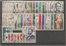 FRANCE année complète 1958 oblitérée cote 48 €