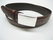 Sterling silver 925, 1 oz engravible or not buckle w/ 30 mm Genuine lizard belt.