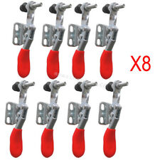 8Pcs  Metal Horizontal Quick Release Hand Tool Hold-down Toggle Clamps Safe Use