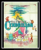 CINDERELLA Walt Disney A 4x6 ft French Grande Movie Poster Rerelease 1958