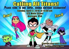 Teen Titan Invitation, Invitations, Birthday, Teen Titans