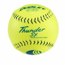 Lightweight Thunder SY Slow Pitch Softball w/ Tough Synthetic Cover - 12pcs 12