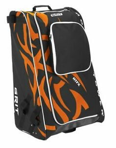 GRIT HTFX Hockey Tower 33 inch Wheeled Equipment Bag Philadelphia Black/Orange