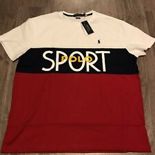Polo Ralph Lauren Mens XL Polo Sport Spellout Pony White T-Shirt NEW $59.50