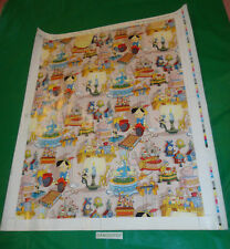 Walt Disney Pinocchio 7 piec 1981 Gift wrap Proof Verification Sheet set & notes