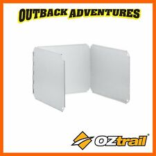 OZTRAIL 3 SIDED WINDSHIELD - OPEN FIRE GAS STOVE COOKING CAMPING