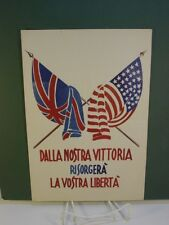 WWII US/UK Italian Campaign Leaflet - From Our Victory will Rise Your Freedom