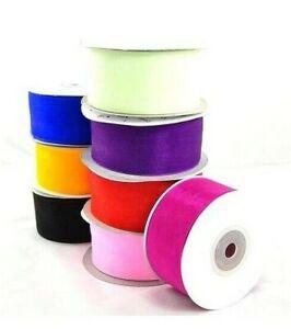 5m Organzaband breite 38mm Chiffonband Schleifenband 10 Farben