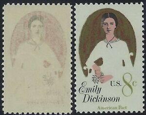 "1436 - Scarce Reverse Offset Image Error / EFO ""Emily Dickinson"" Mint NH"