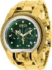 New Mens Invicta 25606 Reserve Quartz Chronograph Green Dial 52mm Watch
