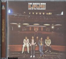 THE GUESS WHO - Live At The Paramount - Pop Rock Oldies Music CD