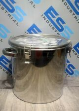 EAGLES STAINLESS STEEL 316L SCIENTIFIC LAB POT CTH-36 STRAIGHT CLIP SEALED TANK