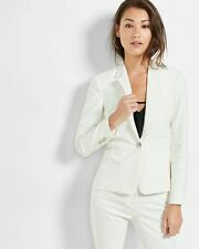 NEW EXPRESS $128 WHITE 24 INCH ONE BUTTON JACKET BLAZER SZ 2