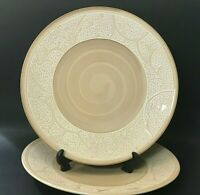 """Gourmet Expressions Cappuccino Mosaic Set of 2 Dinner Plates 11-3/8"""""""