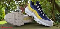 f4cf2c9d862a8 Nike Air Max 95 Essential Mens Trainers Blue Grey Yellow UK Sizes 5 -12 RRP