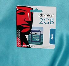 """Kingston 2 GB SD Card - SD/2GB Card 740617090406 """"NEW Factory Sealed Great Find!"""