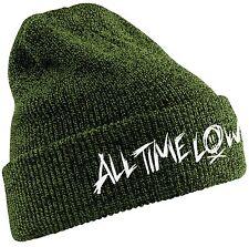 All Time Low 'Scratch Logo Green' Beanie Hat - NEU UND OFFIZIELL