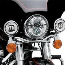 """7"""" Chrome LED Headlight KIT For Harley Ultra Classic Electra Glide FLHT"""