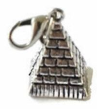 LOVELY SILVER EGYPTIAN PYRAMID AT GIZA  CLIP-ON CHARM FOR BRACELETS -SILVER TONE